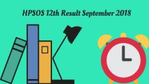 HPSOS 12th Result September 2018