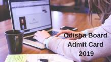 Odisha Board Admit Card 2019