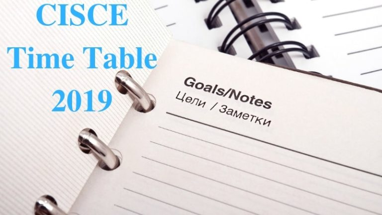 CISCE Time Table 2019| ICSE, ISC Time Table 2019 Download Here