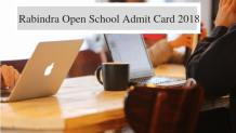 Rabindra Open School Admit Card 2018